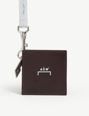 A-COLD-WALL Logo square leather coin pouch