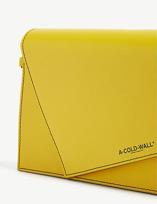 A-COLD-WALL Asymmetric leather cross-body bag