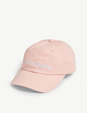PALM ANGELS Cotton embroidered logo cap