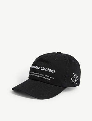 PALM ANGELS Sensitive Content cotton baseball cap