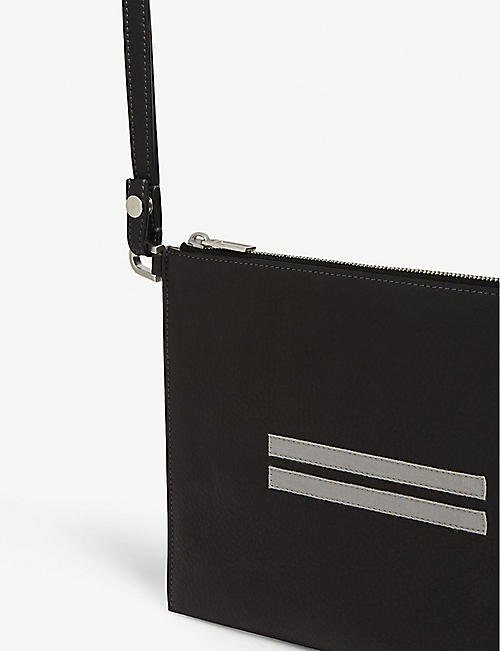 RICK OWENS Larry leather travel pouch