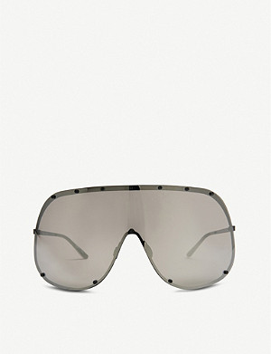 RICK OWENS Mask shield sunglasses