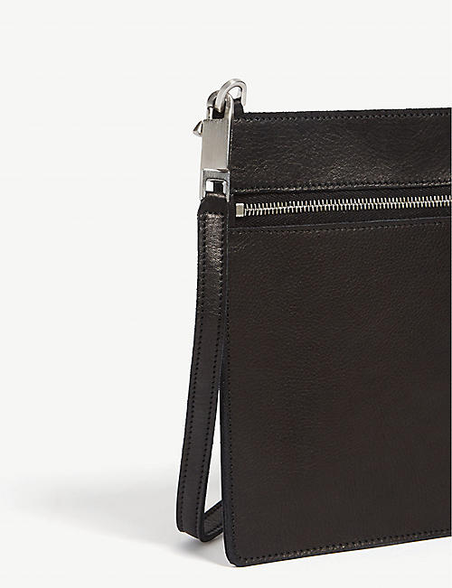 RICK OWENS Grained leather small pouch bag