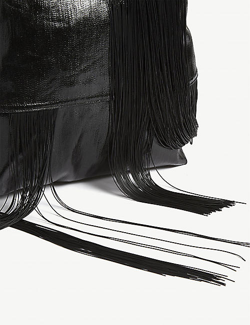 RICK OWENS Fertility fringed belt backpack