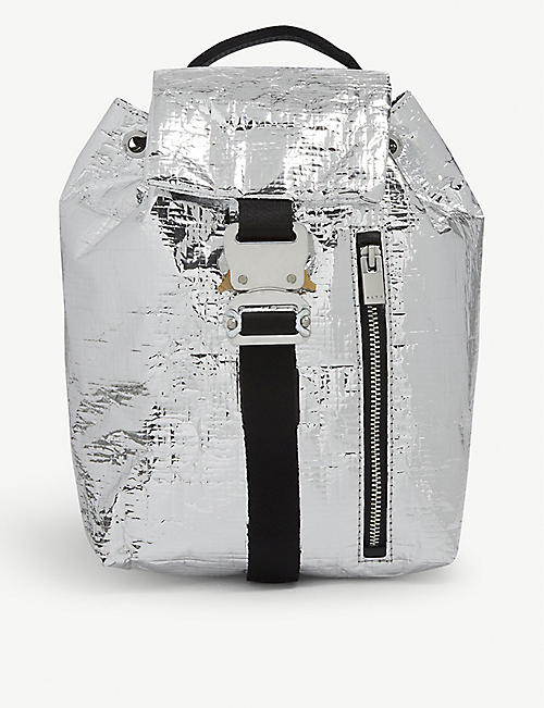 1017 ALYX 9SM Baby-x silver foil mini backpack