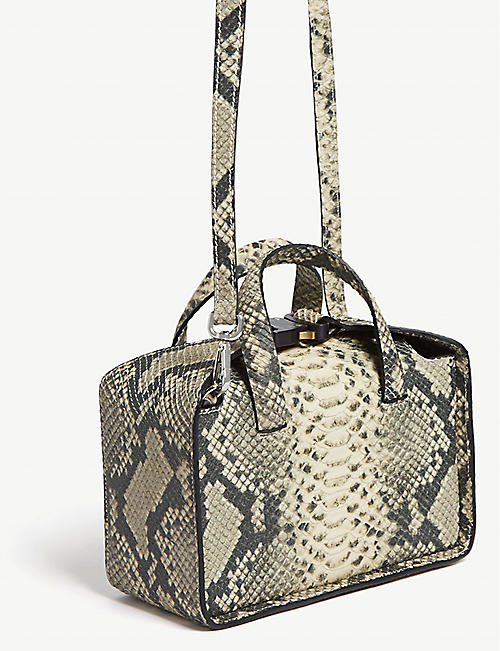 1017 ALYX 9SM Brie python-embossed leather shoulder bag