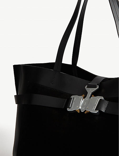 1017 ALYX 9SM Tribuckle large leather tote
