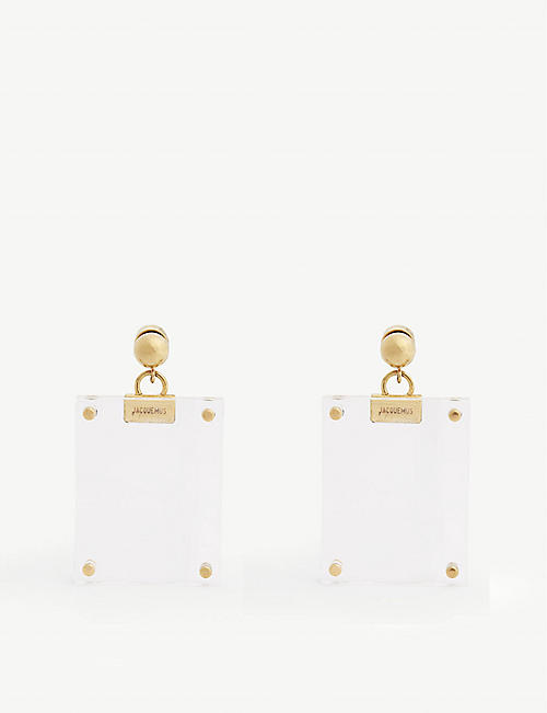 JACQUEMUS Les Cadras photo frame earrings