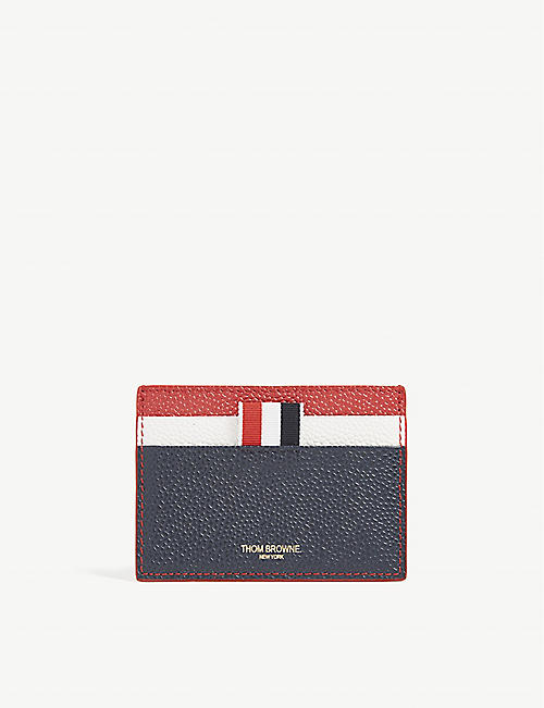 1dc5071ac45f THOM BROWNE Grained leather cardholder