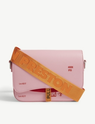 HERON PRESTON Canal leather cross-body bag