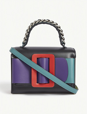 BOYY Fred leather colour-block cross-body bag