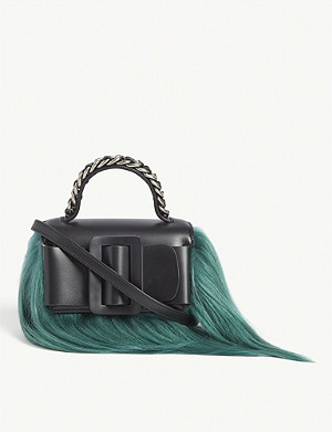 BOYY Fringe detail leather Fred cross-body bag