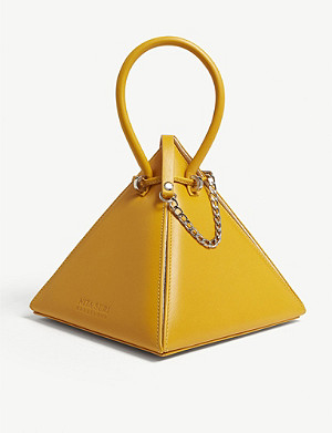 NITA SURI Lia leather pyramid handbag