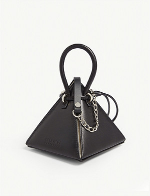 NITA SURI Lia mini leather pyramid handbag