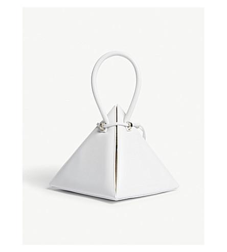 NITA SURI Lia Sequinned Leather Handbag in White