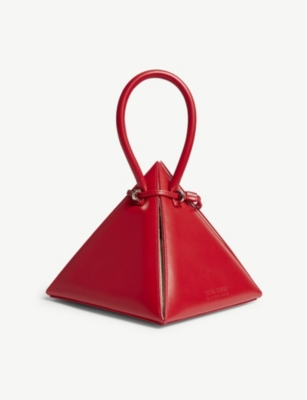 NITA SURI Lia pyramid leather handbag