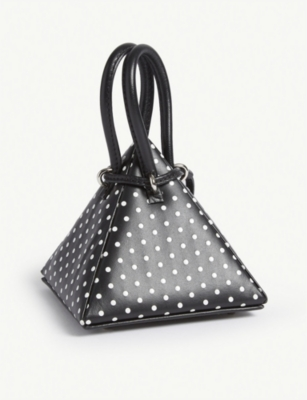 NITA SURI Polka dot Pyramid mini bag