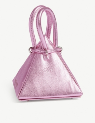 NITA SURI Metallic Pyramid mini bag