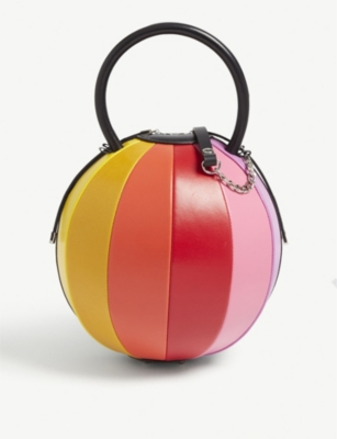 NITA SURI Pilo rainbow leather handbag