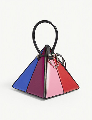 NITA SURI Lia rainbow leather handbag