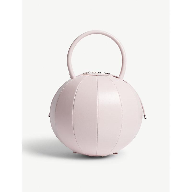 NITA SURI Pilo Round Leather Handbag in Pink