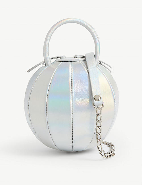 NITA SURI Mini Pilo holographic leather bag