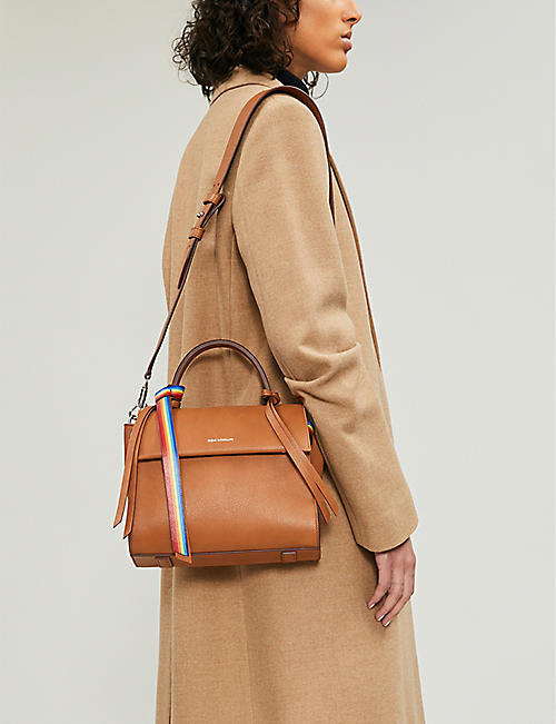 ELENA GHISELLINI Angel rainbow small leather tote
