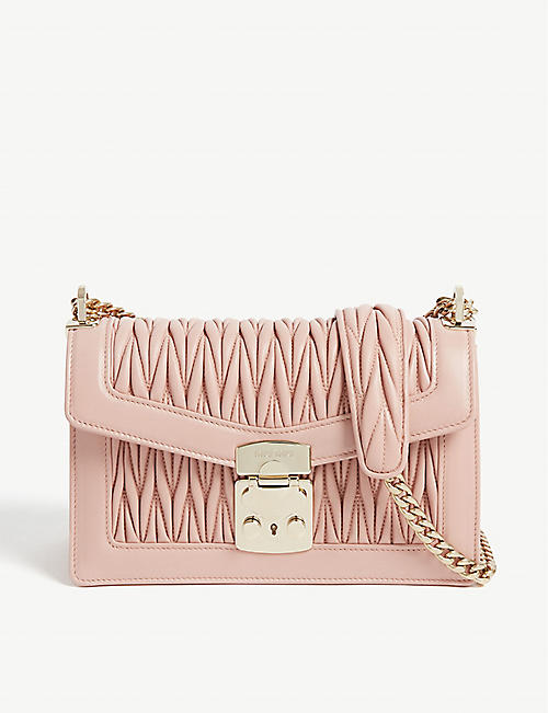MIU MIU Confidential leather shoulder bag
