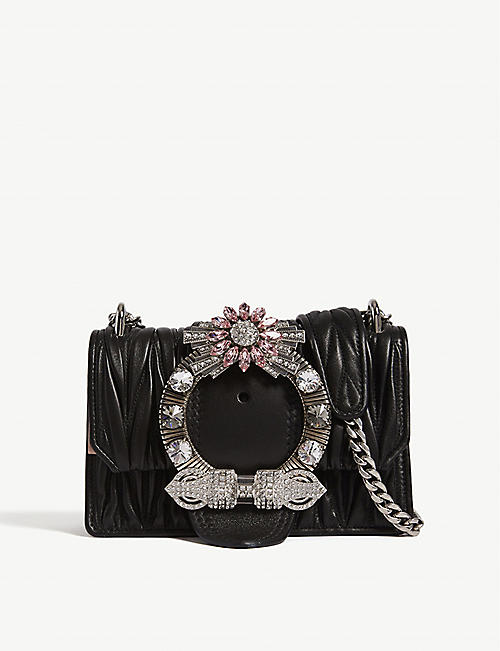 40433f330998 MIU MIU Miu Lady matelassé leather shoulder bag