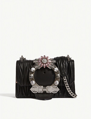 MIU MIU Miu Lady matelassé leather shoulder bag