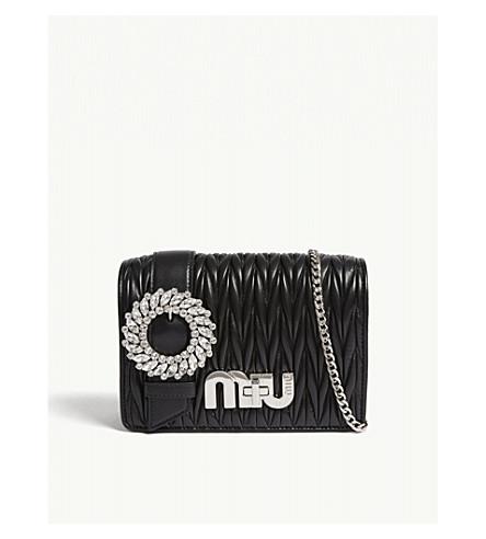 370a24cced2 MIU MIU - Crystal buckle Matelassé leather shoulder bag   Selfridges.com
