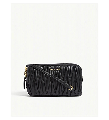d26f394dea58 ... MIU MIU Matelassé leather cross-body bag (Black. PreviousNext