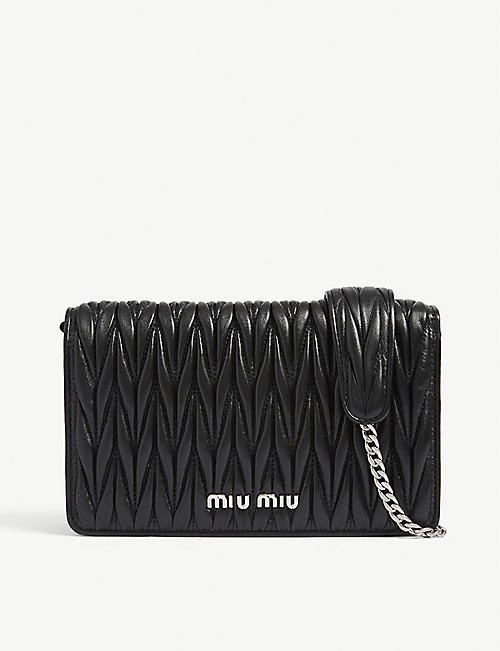 MIU MIU Délice Matelassé quilted leather shoulder bag