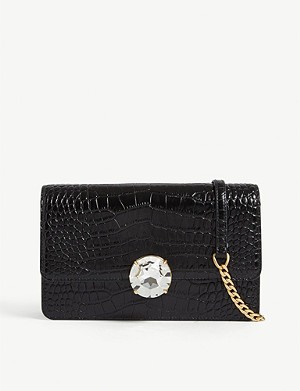 MIU MIU Croc-embossed leather cross-body bag