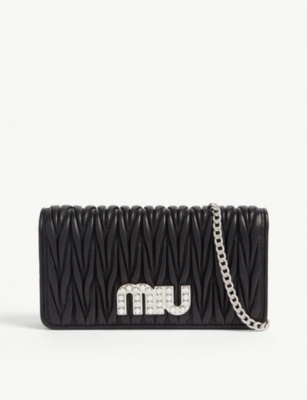 MIU MIU Matelassé leather wallet-on-chain