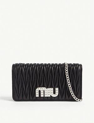 29bd4f981248 MIU MIU Matelassé leather wallet-on-chain
