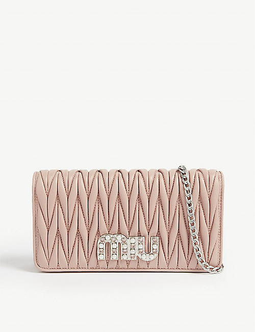MIU MIU Matalasse crystal wallet-on-chain