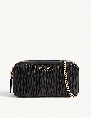MIU MIU: Matelasse leather camera bag