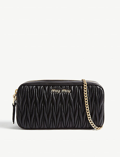 2048fad85f5 MIU MIU Matelasse leather camera bag