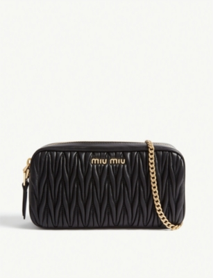 MIU MIU Matelasse leather camera bag