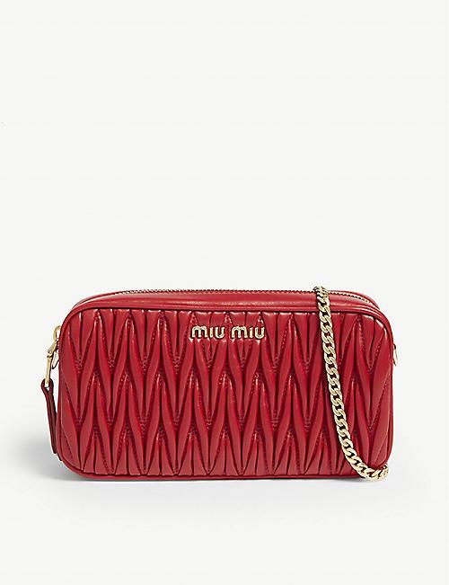 0cfa04c6684 MIU MIU Matelasse leather camera bag