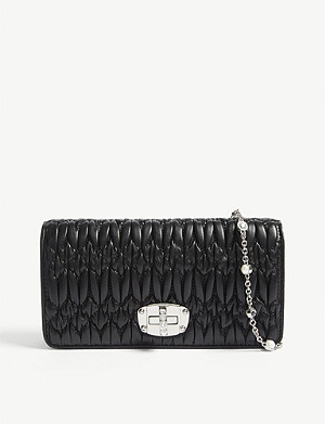 MIU MIU Mini Bandoliera leather purse