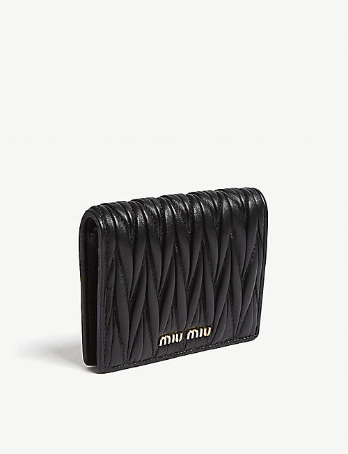 MIU MIU Matelassé leather wallet 204373927b320