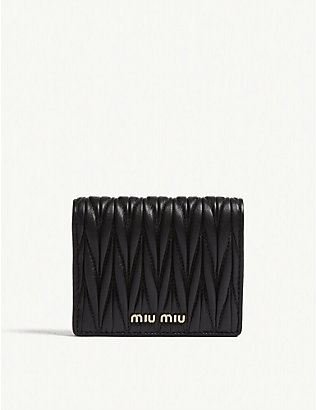 MIU MIU: Matelassé leather wallet