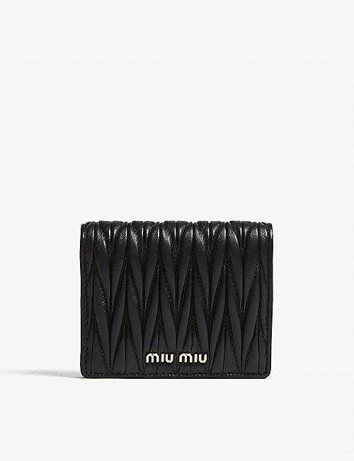 MIU MIU Matelassé leather wallet f58837dc7d326