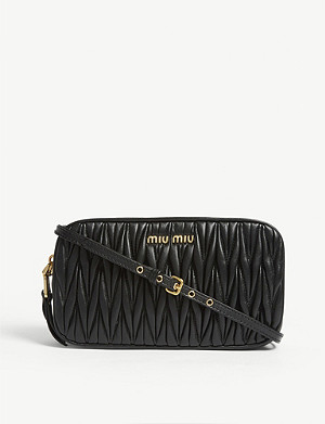 MIU MIU Matelassé leather shoulder bag