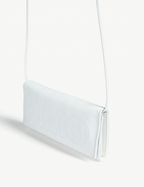 MM6 MAISON MARGIELA Embroidered logo leather shoulder bag