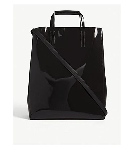 98eb248e83873 ACNE STUDIOS Mini Baker patent leather tote (Black