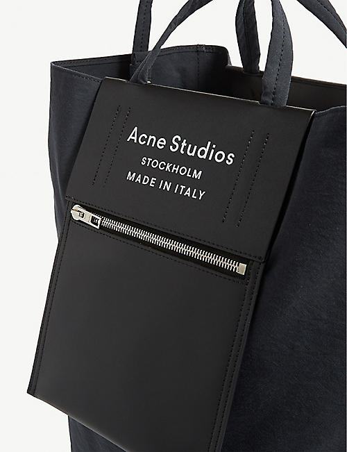 ACNE STUDIOS Baker logo leather tote