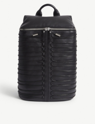 OBERKAMPF Laced leather backpack